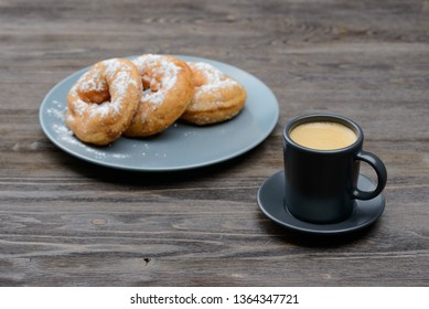 coffee with sweet donuts