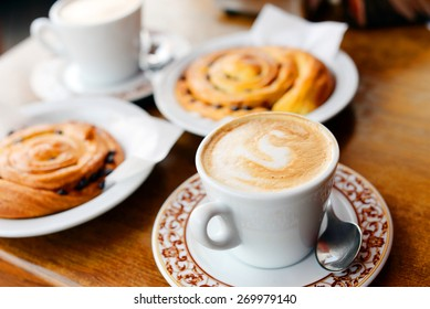 Coffee with sweet rolls