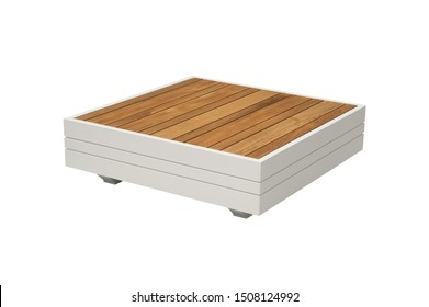 coffee table. furniture on a white background