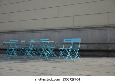 Coffee tables on the street