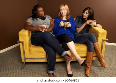 Coffee Talk- Diverse Girlfriends Hanging Out