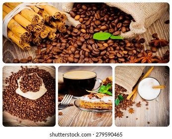 Coffee theme collage