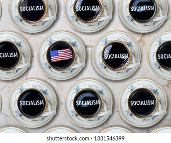 Coffee time for Americans surrounded by Socialist.