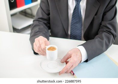 Coffee time before work at office