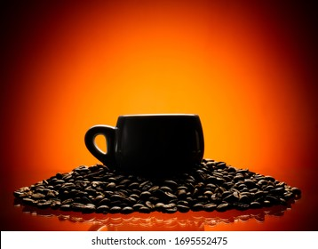coffee time, the cap and coffee beans