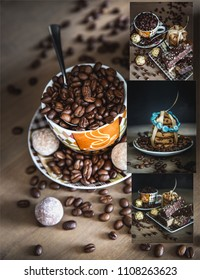 Coffee time collage