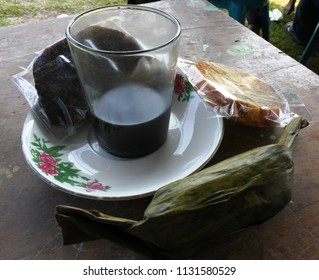 coffee and traditional Indonesian snacks