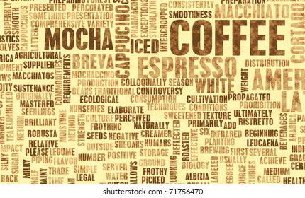 Coffee Varieties and Other Beverages Types Art