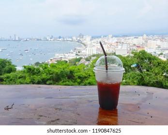 coffee view pattaya thailand sea town