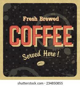 Coffee vintage poster. Raster version