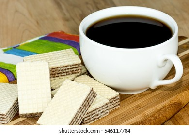 Coffee and wafer cookies