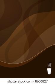 coffee wave background ideal for menus - portrait version