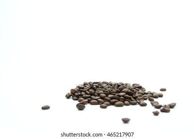 Coffee/ Whole coffee beans with white background