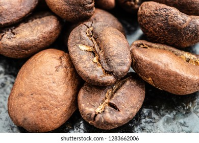 Coffeebeans on a stack