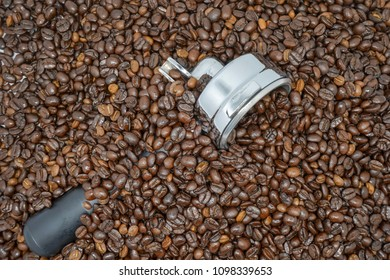 coffeebeans in Thailand, using as a background or wallpaper