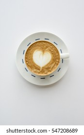 coffee/caffe latte and heart/backgroundd