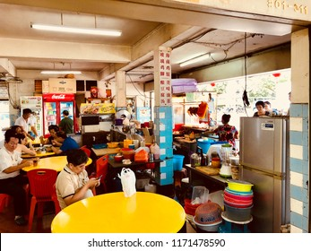 Coffeeshop in Queensway Singapore July 22 2018