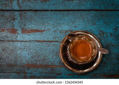 Cofffee cup on wooden