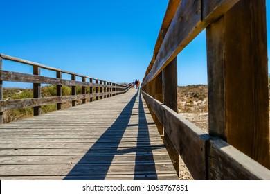 Coffs harbor boardwalk to beach.