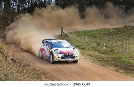 COFFS HARBOUR, AUSTRALIA - SEP 14: Crew number four M. Ostbert, J.ANdersson in a Citroen C2 WRC 2014 race in Coffs Harbour , Australia on 14 September 2014