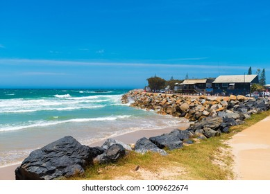 Coffs Harbour, NSW, Australia- December 20, 2017 : Australian coastal walk and sand beach at Coffs Harbour, , one of the most popular family holiday destinations in New South Wales, Australia.
