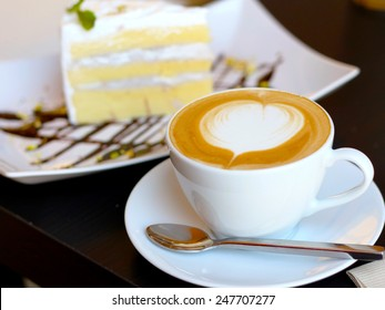 Coffy and cake