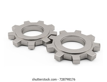 Cog Gear Concept On White Background.