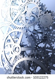 Cog and gear wheels - industrial background image