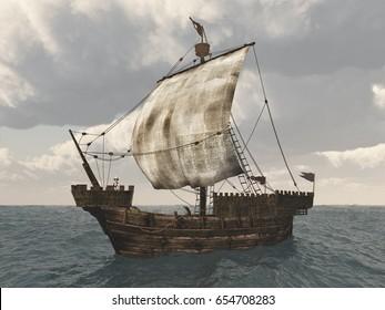 Cog ship Computer generated 3D illustration