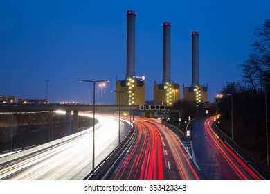 The cogeneration plant Berlin-Wilmersdorf Germany on January 05 2014. (German Kraftwerk Berlin Wilmersdorf)