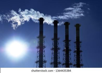 Cogeneration plant funnels