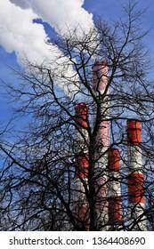 cogeneration station, heating plant