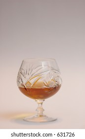 Cognac in a crystal sifter