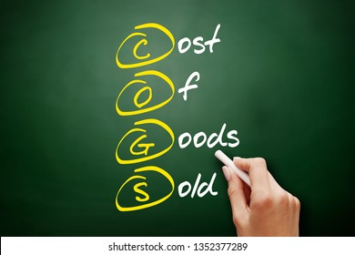 COGS - Cost of Goods Sold acronym, business concept on blackboard