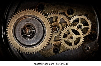 cogwheels in old clock