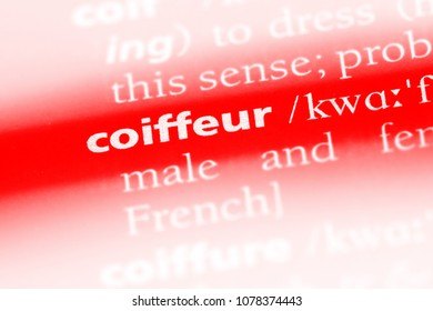 coiffeur word in a dictionary. coiffeur concept