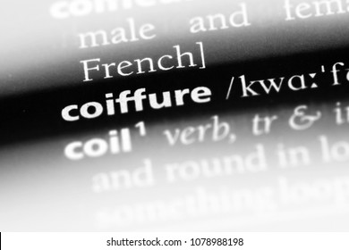 coiffure word in a dictionary. coiffure concept