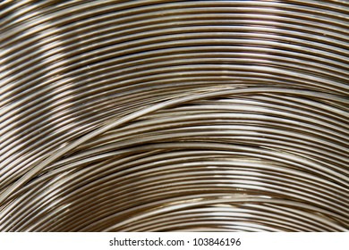 A coil of Aluminum wire