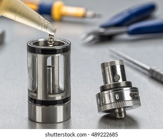 Coil atomizer replacement parts for tank or subtank vaporizer or e-cigarette. Useful for vaping enthusiasts.