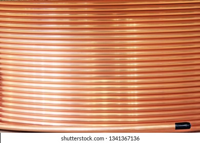 Coil of copper pipe for installation of pipelines for water and other liquids.
