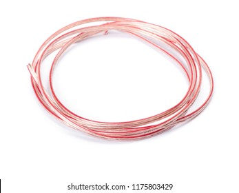 Coil of wires isolated on white background