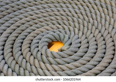 Coiled Naval rope in pattern