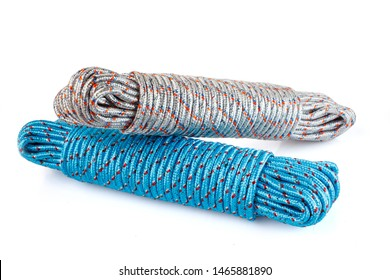 Coiled Nylon Rope. Used to hold or dry things.