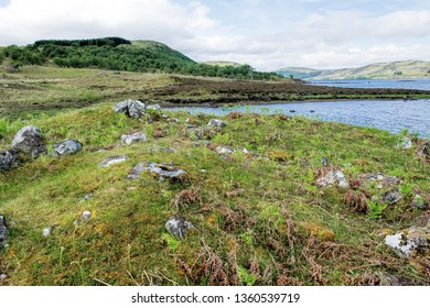 Coill'ach A'chuil Broch (site of ruins) on the shores of Loch Naver