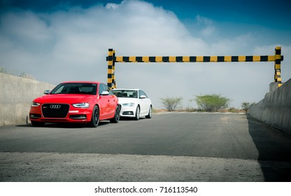 Coimbatore, India July 2017: Audi S4 & Audi A6 Photo shoot at Coimbatore Chettipalayam highway on July 12th.