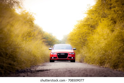 Coimbatore, India September 2017: Audi Rs Photo shoot in Coimbatore at Codissia ground on September 1st.