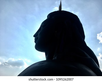 Coimbatore, Tamil Nadu, India- May 21 2018: adhi yogi Statue