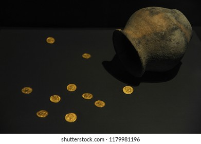 Coimbra, Coimbra district, Portugal, June 14, 2017. Artifacts and objects in the museum of the archaeological ruins of Conimbriga. National historical patrimony.