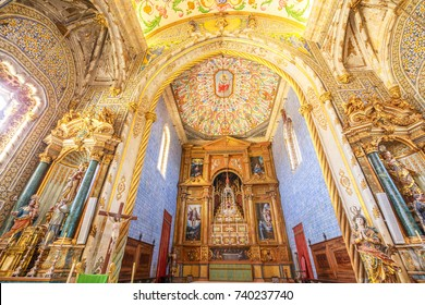 Coimbra, Portugal - August 14, 2017: Coimbra University Chapel or Sao Miguel Chapel is a chapel of University of Coimbra. The chapel is a tourist attraction of university old quarter in upper Coimbra.