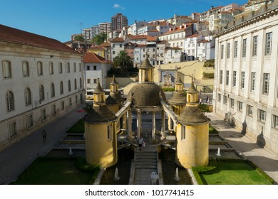 COIMBRA, PORTUGAL - AUGUST 17, 2016: General view of the Jardim da Manga in the historic university city of Coimbra, Portugal on August 17, 2016